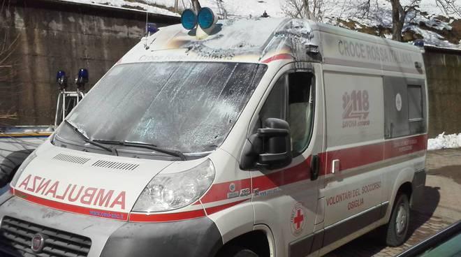 Ambulanza osiglia incendio