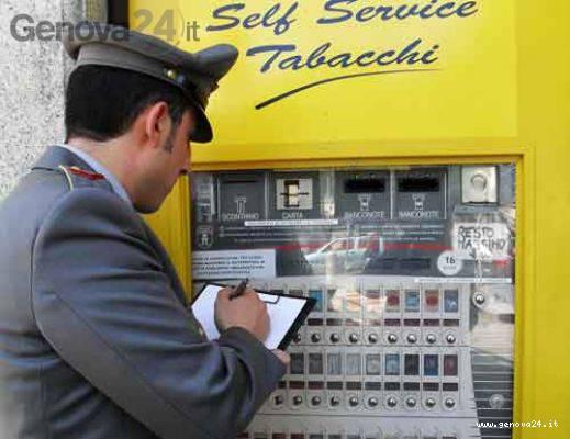 distributore sigarette guardia finanza