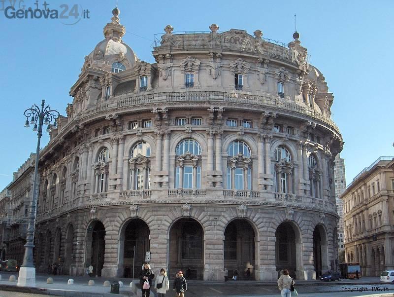 Palazzo della Borsa in via XX Settembre a Genova