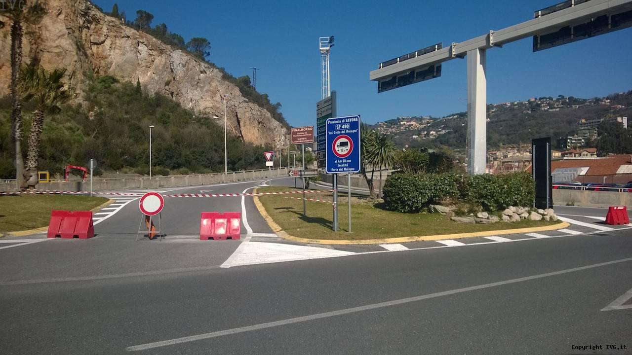 sp490 melogno chiusa autostrada finale