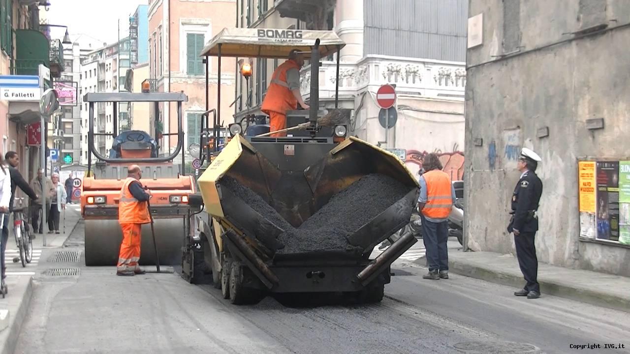 asfalto savona via torino