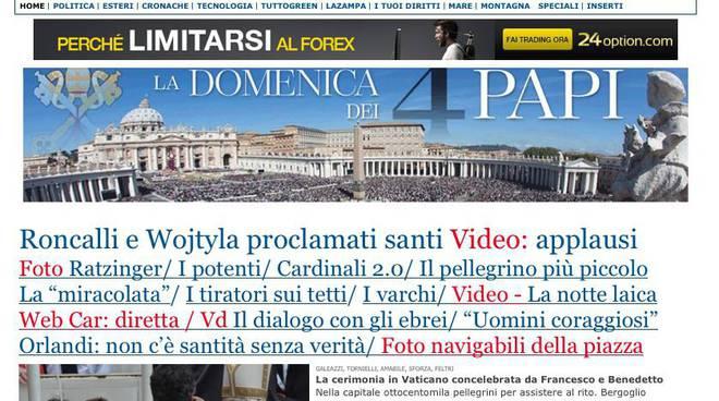 papa celebrazioni