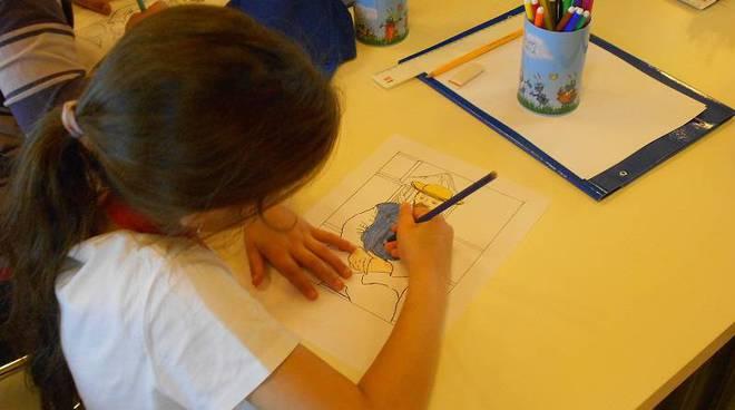 bambini disegno, museo immaginario banca carige