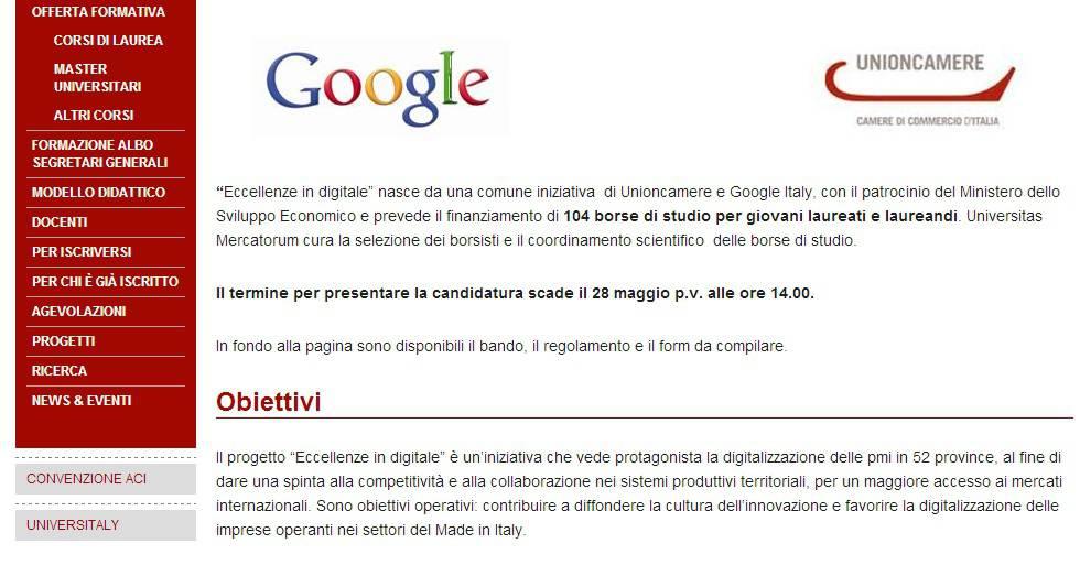 google unioncamere