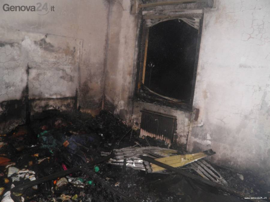 incendio villa valle Ragone di Sestri Levante