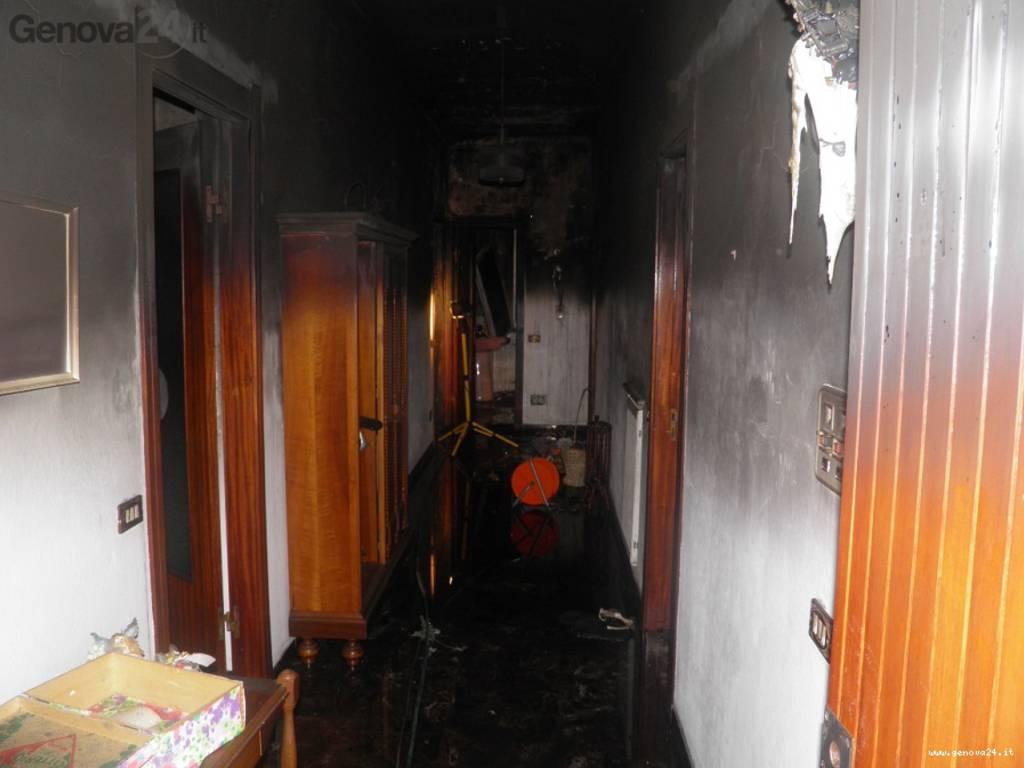 incendio villa valle ragone sestri levante