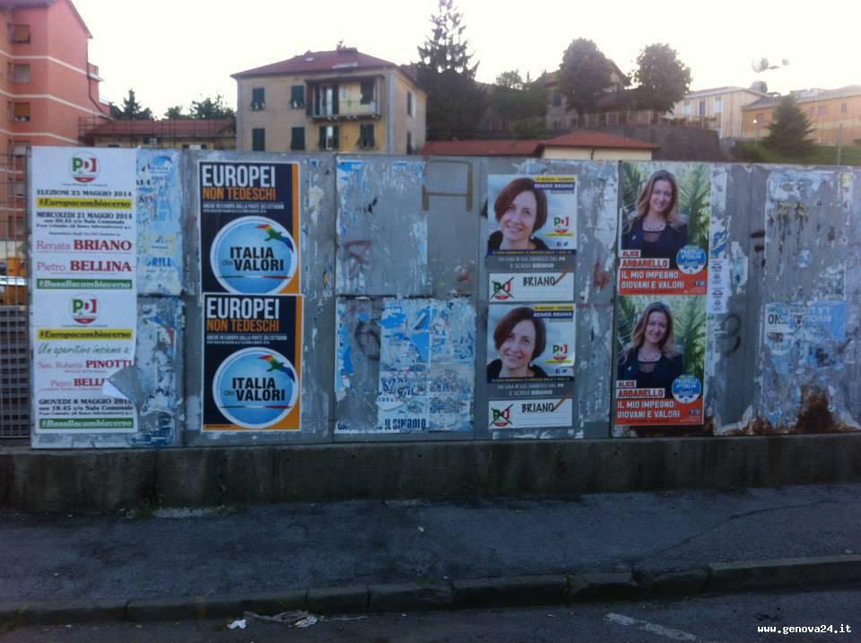 manifesti elettorali abusivi