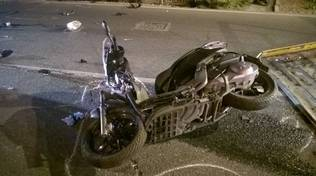 Incidente auto scooter Albenga