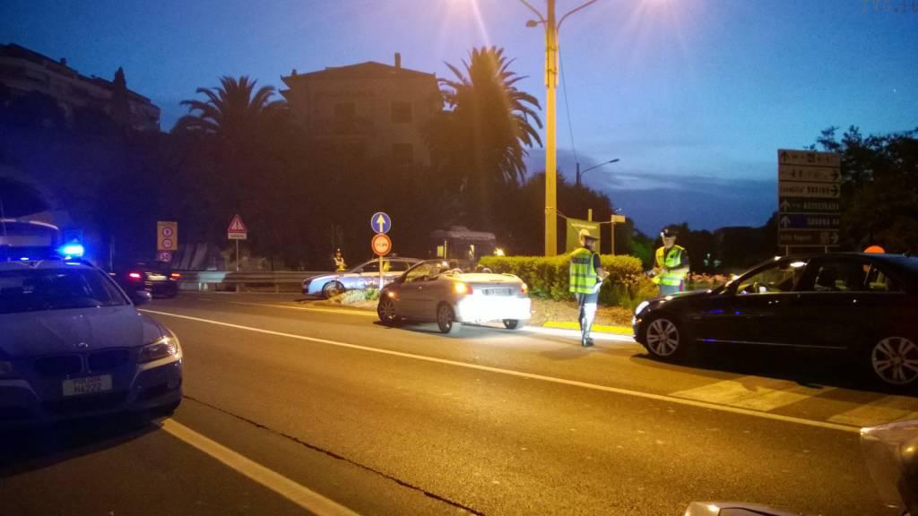 Pattuglione Polizia Stradale Alassio 20 luglio
