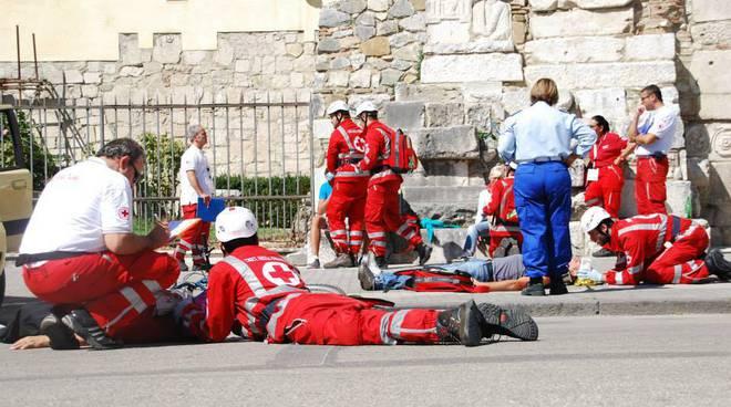 soccorso militi volontari simulazione feriti