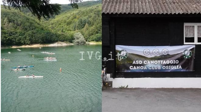 Lago Osiglia canoa