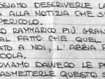 lettera Bellapianta e Galeotti a Corrado Manarin