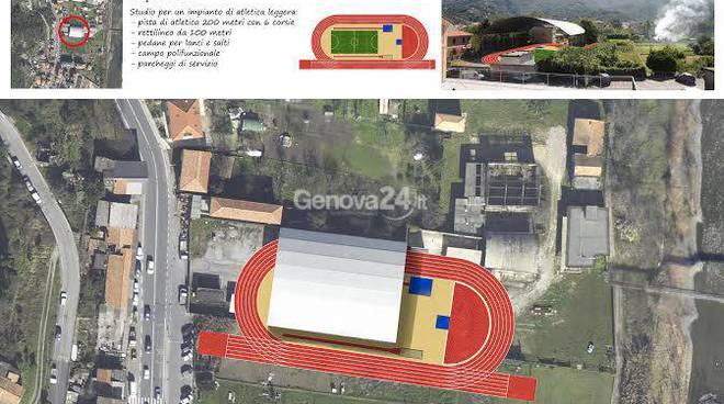 Progetto pista di atletica a Chiavari