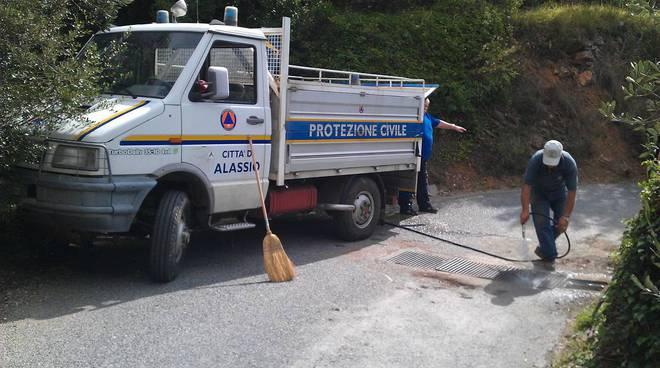 protezione civile alassio disostruzione