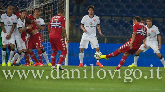 Sampdoria contro Eintracht Francoforte