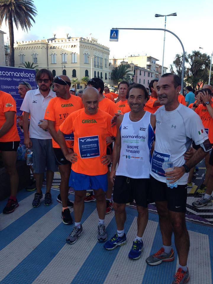 Savona, la tappa dell'Ecomaretona scortata dal Running Fest