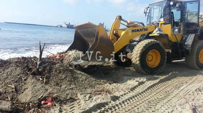 Spiagge di Albissola Mare invase da legna e detriti