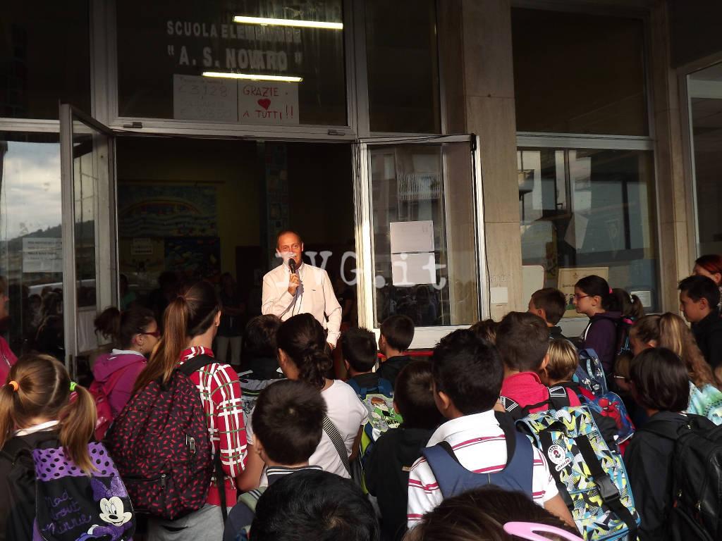Andora sindaco Demichelis primo giorno di scuola