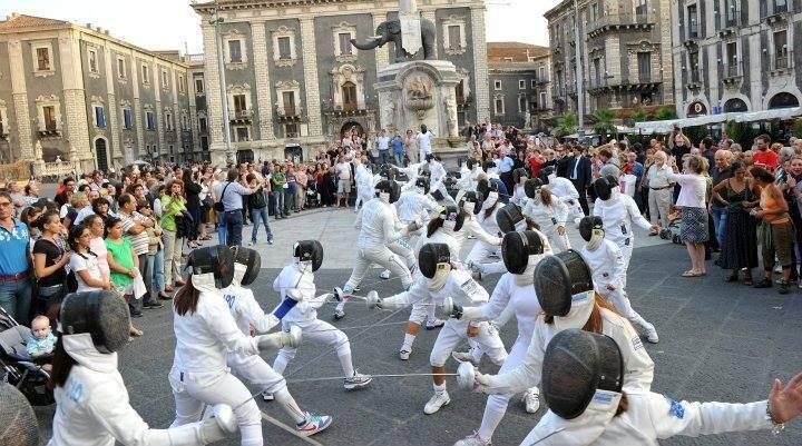 fencing flash mob scherma