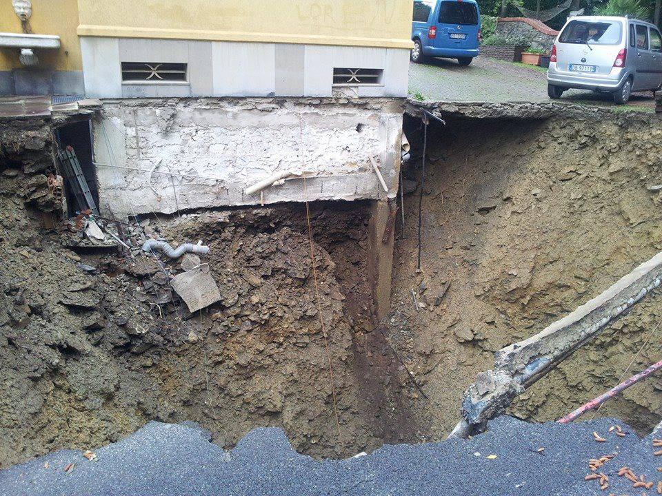 alluvione 2014 Genova frana castelletto