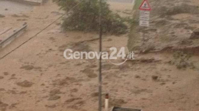 alluvione, frana a campo ligure