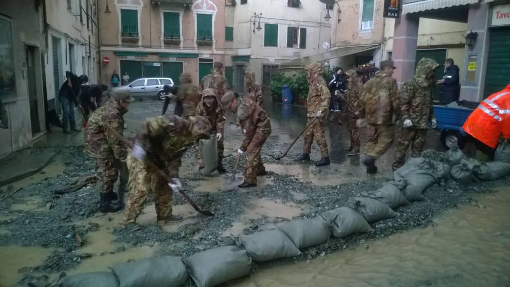 esercito alluvione montoggio campoligure