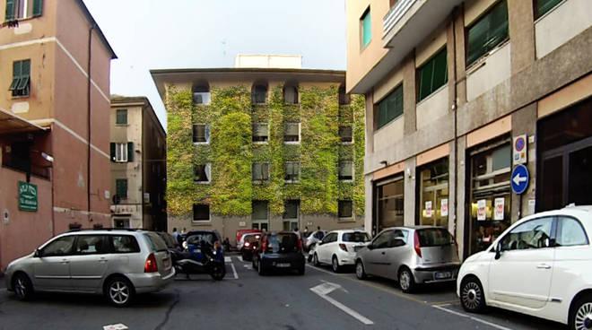 facciata verde inps