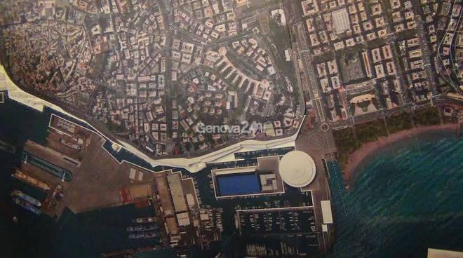 waterfront, progetto dell'area portuale e della nuova torre piloti
