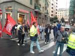 poste italiana, presidio lavoratori Transystem