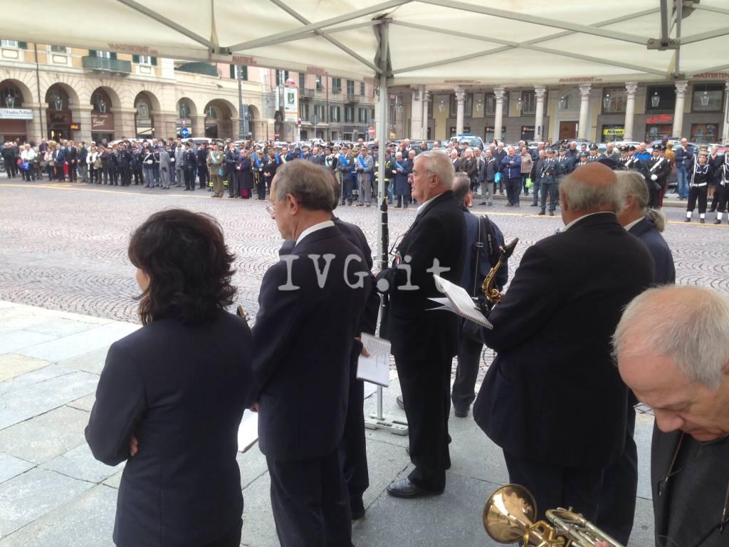 La cerimonia per le celebrazioni del IV Novembre a Savona