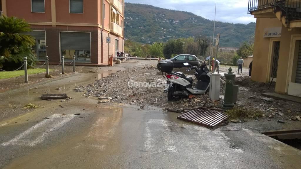 Maltempo a Levante, la situazione a Carasco