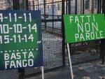 Manifestazione piazza Adriatico ponte Carrega