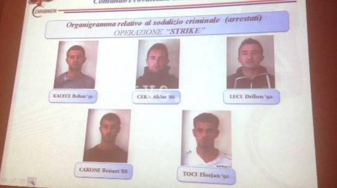 """operazione """"strike"""" furti"""