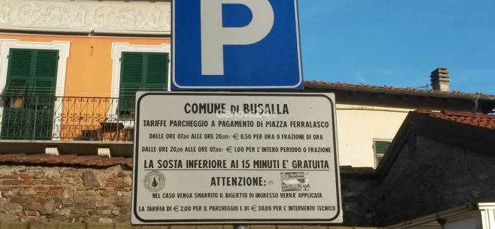 parcheggio piazza ferralasco a busalla