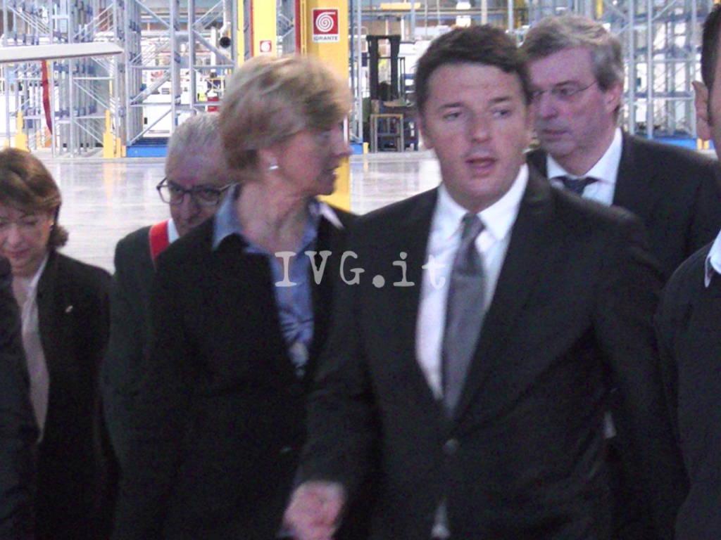 Villanova - visita Renzi a Piaggio