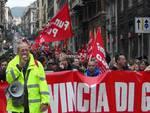 Corteo e protesta dei lavoratori delle Province
