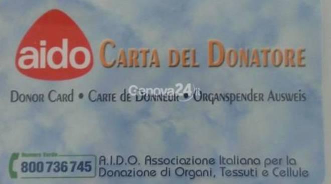 donatori, tessera aido