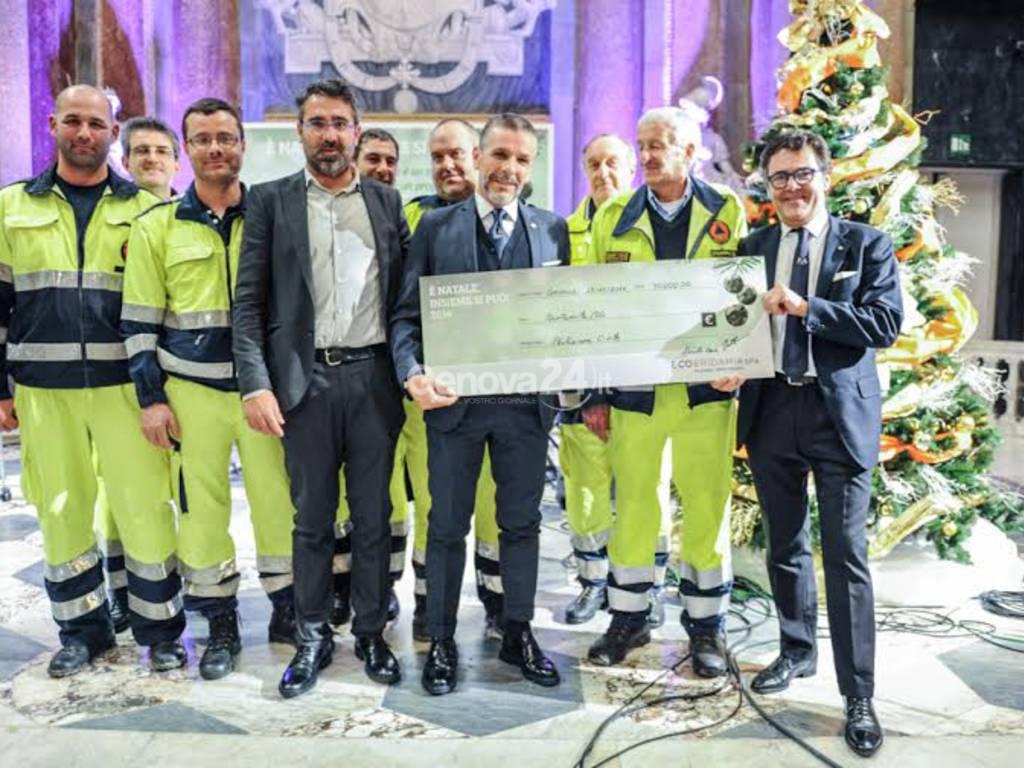 Ecoeridania consegna 150 mila euro agli alluvionati