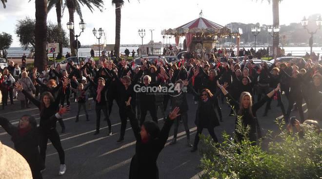 Flash mob a Rapallo in memoria di Gisella e Francesco