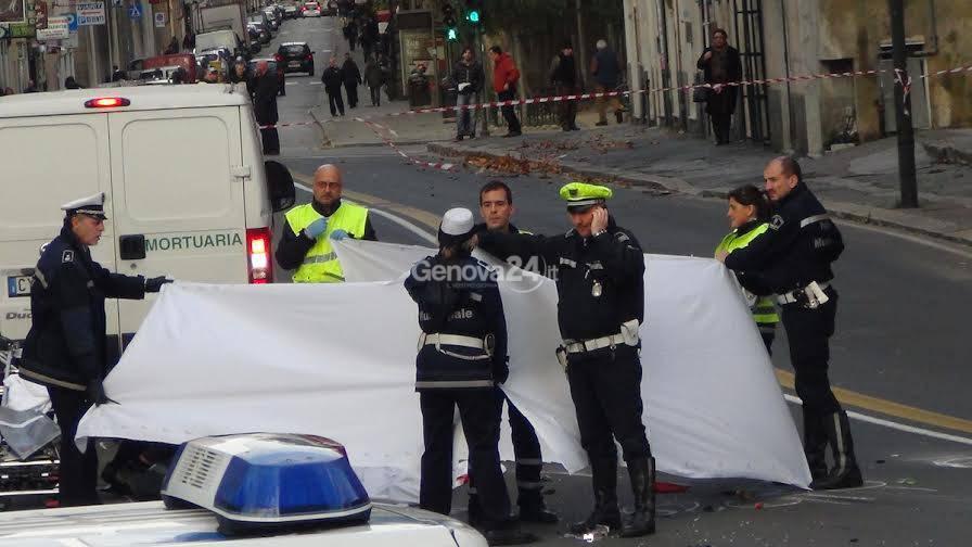 Incidente mortale in piazza Barabino