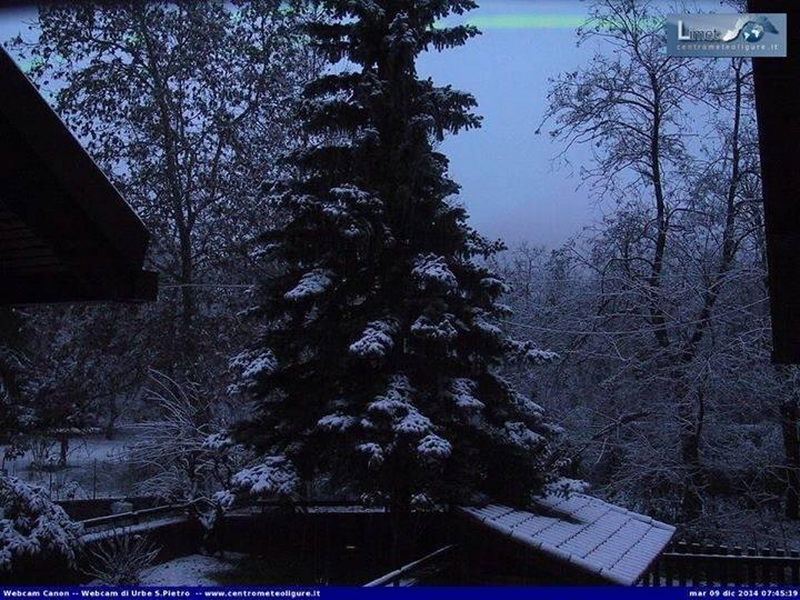 La neve imbianca la provincia di Savona