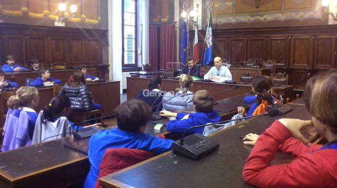 Lezione di educazione civica per gli alunni di Rapallo