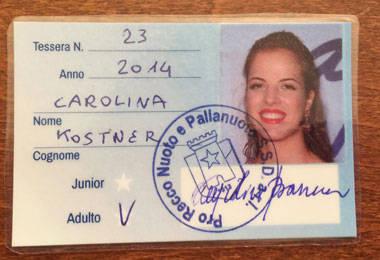 Pro Recco Waterpolo Club, Carolina Kostner