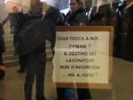 Protesta dei lavoratori delle Province in Regione