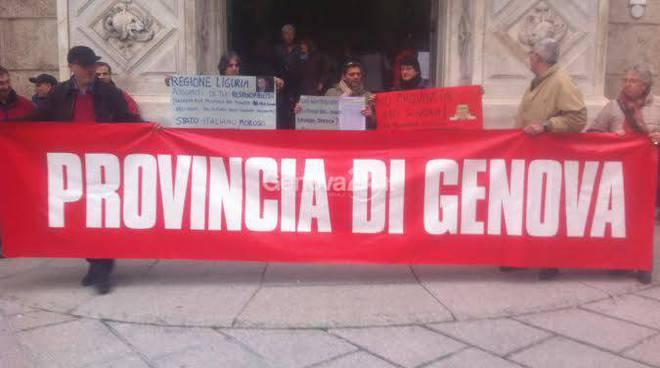 protesta lavoratori provincia