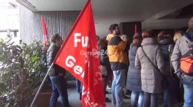 protesta sanità privata, fp cgil