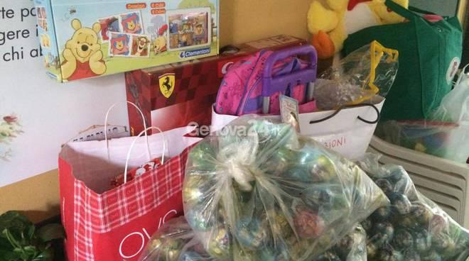 raccolta giocattoli in ricordo di Gisella e Francesco