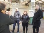 Borghetto, il comitato civico e Melgrati in visita al depuratore