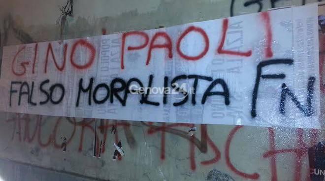 Blitz di Forza Nuova contro Gino Paoli