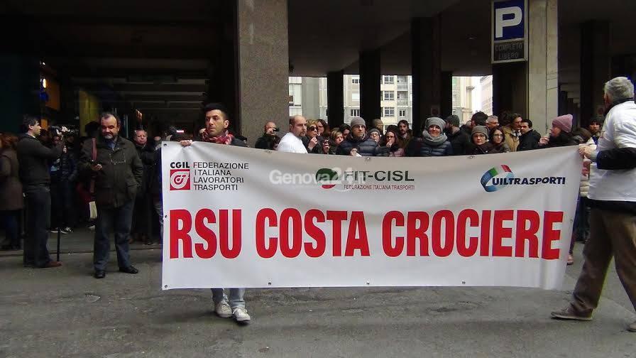 Corteo e assemblea pubblica dei lavoratori di Costa Crociere